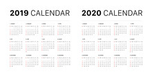 2019 Calendar Starting Sunday ...