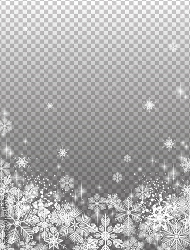 Transparent snowy background