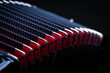 Akkordeon, Harmonika Balg in schwarz, rot