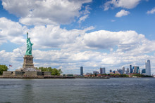 Statue Of Liberty With New Jersey