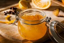 Preserving Jar Of Homemade Ora...
