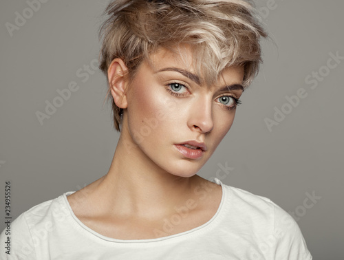 Portrait of fashion trendy ...
