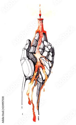 Photo sur Aluminium Peintures hand