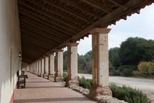 Brick Column Corridor