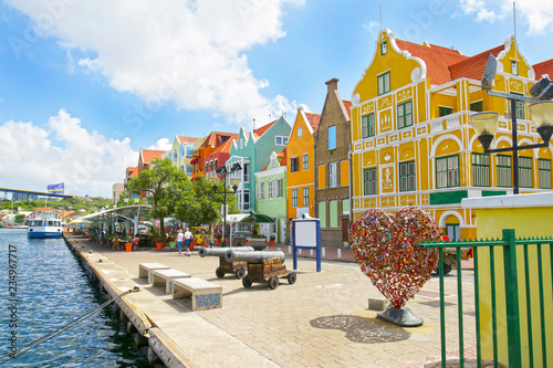 Canvas-taulu Willemstad, Curacao, Netherlands Antilles