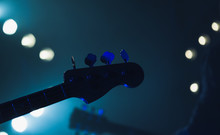 Live Music Background, Electric Bass Guitar