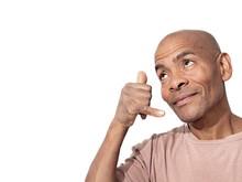 Man Showing Phone Hand Gesture