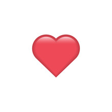 Red Vector Heart Icon. Heart E...