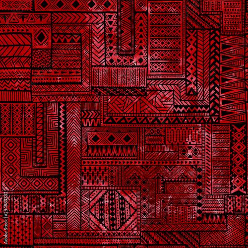 wzor-patchworku-czarne-linie-geometryczne-na-czerwonym-tle-akwarela-wektor-chory