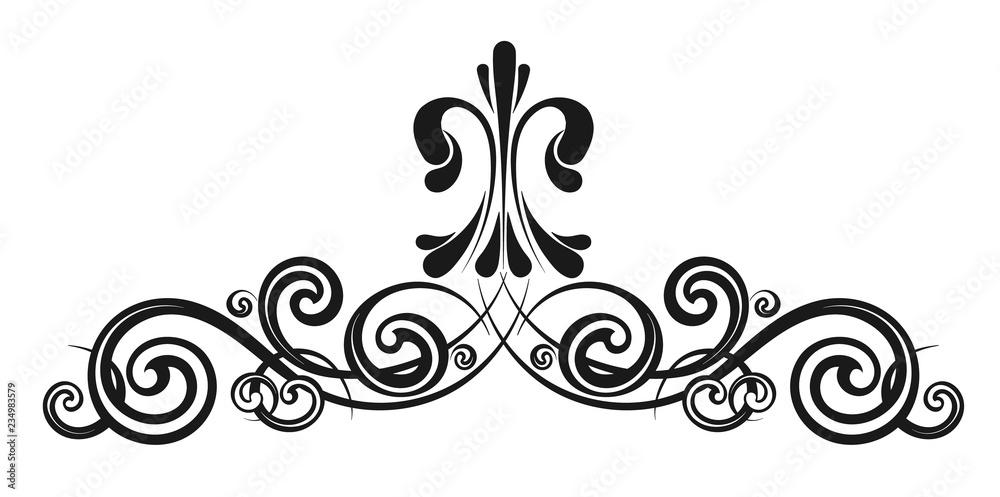 Fototapety, obrazy: Vintage decorative calligraphic element
