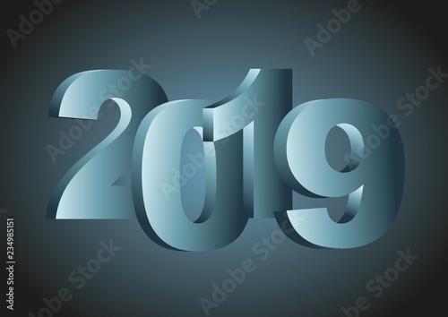 Fotografía  year 2019 wallpaper in blue