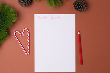 Letter For Santa Concept. Christmas And New Year Concept. Childhood.