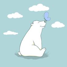 Cartoon Cub Polar Bear