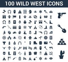 100 Wild West Universal Icons ...