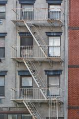 New York, street, buildings, scene. Architecture, facade, details.