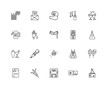Collection of 20 party linear icons such as Shaker, DJ, Vip, Con