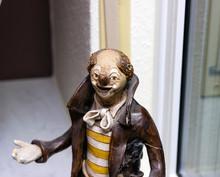 Statuette Of A Clown, Ceramic Clown Figure.