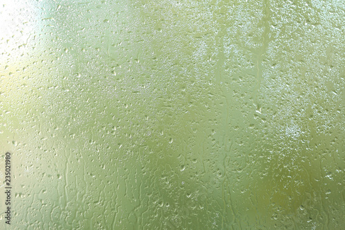 View of glass with water drops, closeup Fototapet