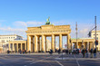 Outdoor scenery behind Brandenburg Tor, Brandenburg Gate, from Tiergarten in Berlin, Germany.