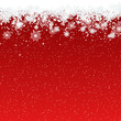 Merry Christmas and Happy New Year red vector background with stars and snowflakes