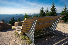 Wooden Bench On A Viewpoint