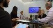 Businessman giving presentation in conference room 4k