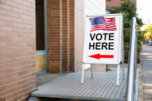 Polling Place Vote Here Sign O...