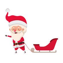 Santa Claus On Sleigh Avatar Character