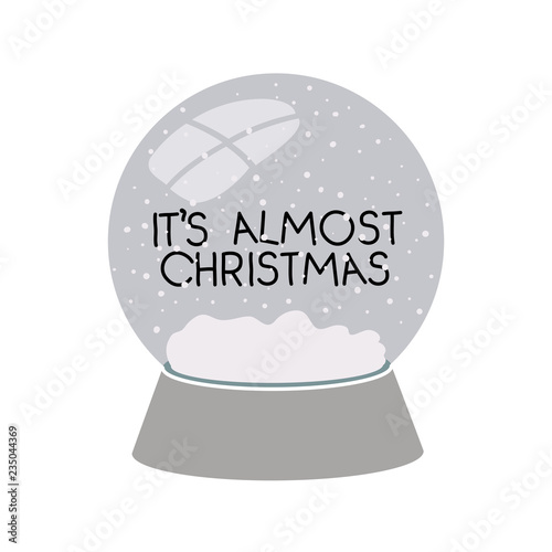 Fotografía  its almost christmas in crystal ball isolated icon