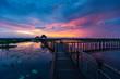 Sunset at Sam Roi Yot Freshwater Marsh National Park Khao Sam Roi Yot,Prachuap Khiri Khan, Thailand