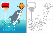 Coloring Book Vector With Dolp...