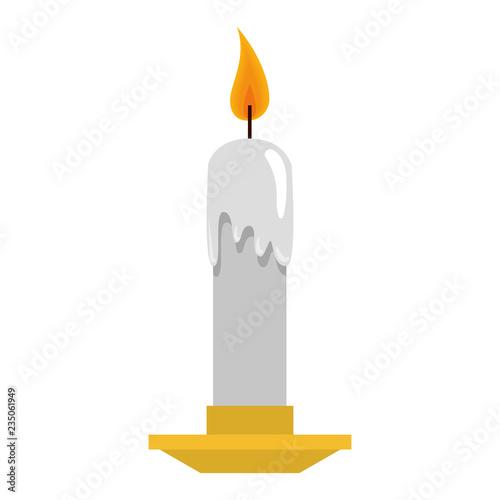 Valokuva candle church isolated icon