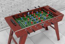 Soccer Table Football Game. 3d Rendering