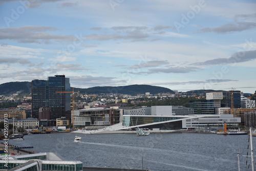 "/""Oslo skyline and harbor Norway/"" Bild auf Poster"