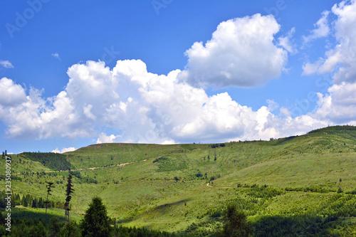 Summer green landscape in Levoca mountains, Slovakia