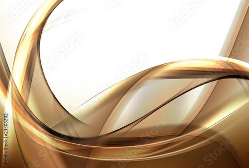 Fotobehang Fractal waves Elegant gold background.