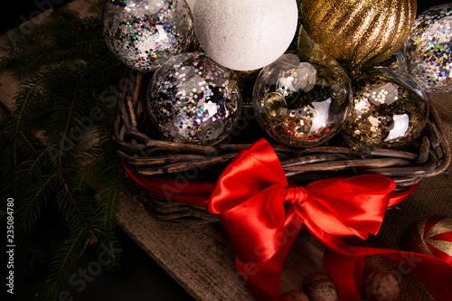 Vászonkép Piękne świąteczne dekoracje