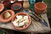Roman Food And Cooking Utensils.