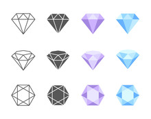 Vector Diamond Colorful Icons