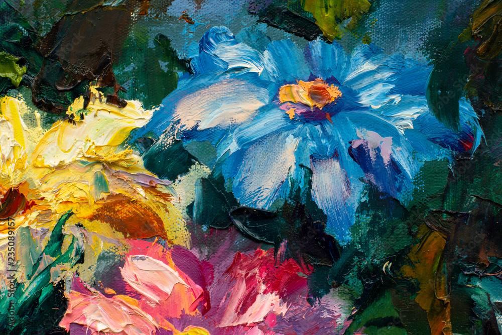 Fototapeta Flowers paintings monet painting claude impressionism paint landscape flower meadow oil