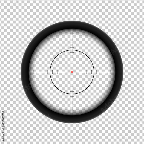 Cuadros en Lienzo Sniper AR crosshairs icon with red target dot.