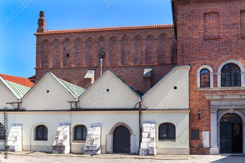 Fototapeta Old Synagogue, Szeroka street in Jewish district Kazimierz, Krakow, Poland. obraz