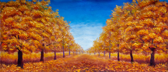 Autumn Oil painting landsca...