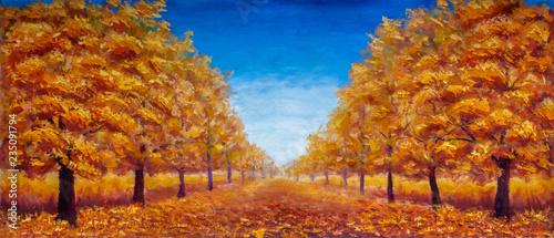 Autumn Oil painting landsca...