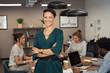 Leinwandbild Motiv Successful young business woman