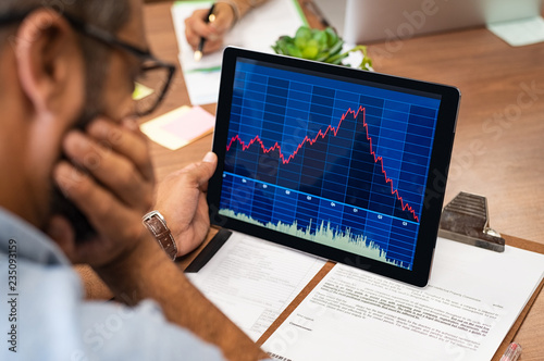 Stock market crash Fototapete