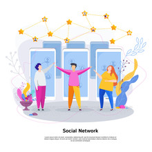 Social Network Concept. Group ...