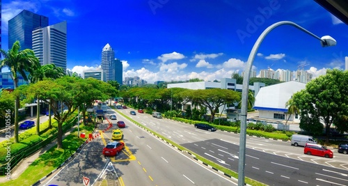 In de dag Aziatische Plekken シンガポールの街並み