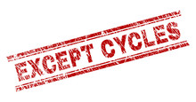EXCEPT CYCLES Seal Print With ...