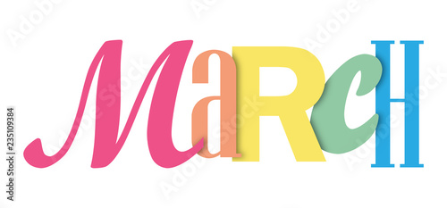 Foto MARCH colorful typographic banner